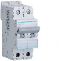 Magnetotermico 1 Polo+N 40A 6KA C 2 Moduli Hager  MCA540