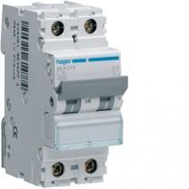 Magnetotermico 1 Polo+N 16A 4,5KA C 2 Moduli Hager MYN516