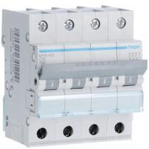 Magnetotermico 4 Poli 10A 4,5KA C 4 Moduli Hager  MYN410