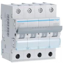 Magnetotermico 4 Poli 20A 4,5KA C 4 Moduli Hager  MYN420
