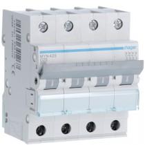 Magnetotermico 4 Poli 25A 4,5KA C 4 Moduli Hager  MYN425