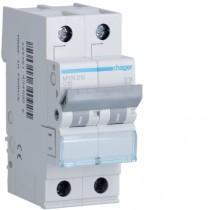 Magnetotermico 2 Poli 6A 4,5KA C 2 Moduli Hager MYN206