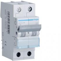 Magnetotermico 2 Poli 16A 4,5KA C 2 Moduli Hager MYN216