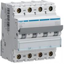 Magnetotermico 4 Poli 16A 6KA C 4 Moduli Hager  MCA416