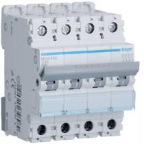 Magnetotermico 4 Poli 40A 6KA C 4 Moduli Hager  MCA440