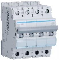Magnetotermico 4 Poli 50A 6KA C 4 Moduli Hager MCA450