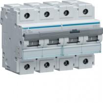 Magnetotermico 4 Poli 100A 10KA C 6 Moduli Hager HMF490