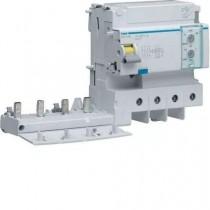 Blocco Differenziale 4 Poli 125A 30MA AC 6 Moduli Hager  BDC480E