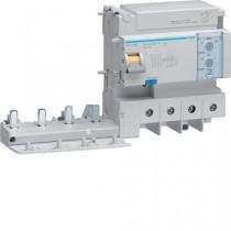 Blocco Differenziale 4 Poli 125A Regolabile AC 6 Moduli Hager  BTC480E