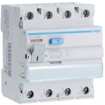 Differenziale Puro 4 Poli 25A 300MA AC 4 Moduli accessoriabile Hager CFC425H
