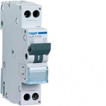 Magnetotermico 1 Polo+N 10A 4,5KA C 1 Modulo Hager  MJN510A