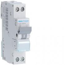 Magnetotermico 1 Polo+N 20A 4,5KA C 1 Modulo Hager  MJN520A