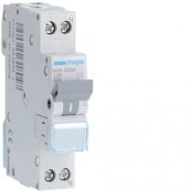 Magnetotermico 1 Polo+N 25A 4,5KA C 1 Modulo Hager  MJN525A