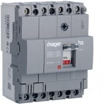 Magnetotermico scatolato 4 Poli 100A 18KA Hager HDA101L