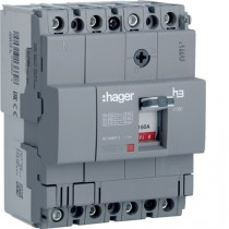 Magnetotermico scatolato 4 Poli 160A 18KA Hager HDA161L