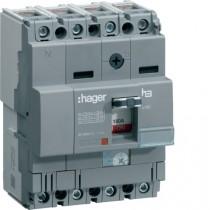 Magnetotermico scatolato 4 Poli 125A 25KA Hager HHA126H