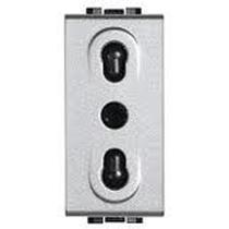 light tech Bticino- presa 2P+T 10/16A bipasso NT4180