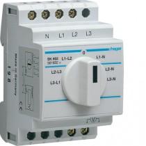 Commutatore voltmetrico 3 Moduli Hager SK602