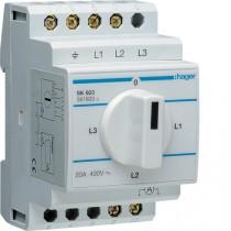Commutatore amperometrico 3 Moduli Hager SK603