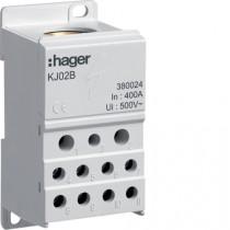 Blocco Di Distribuzione Unipolare 400A  Hager KJ02B