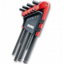 Serie di 9 chiavi maschio esagonale a testa sferica 280 LTS/S9 USAG U02800084