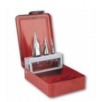 Serie frese a scalino (3 pz) in cassetta di lamiera 988 D/S3 USAG U09880020