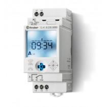 Interruttore orario digitale astronomico NFC settimanale 1 scambio 16 A Finder 120182300000