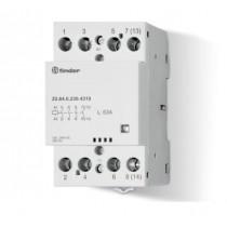 Contattore modulare 63A 4 NO 230V  Finder 226402304310