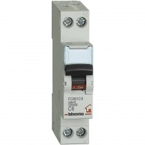 Interruttore automatico magnetotermico  1P+N 6A 4,5KA BTicino FC881C6