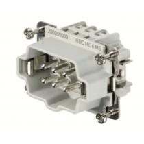Connettore Maschio a Vite 500V 24A Poli 6 HDC Weidmueller 1200000000