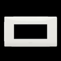 Placca 4 moduli colore Bianco  ABB serie Chiara 2CSK0401CH