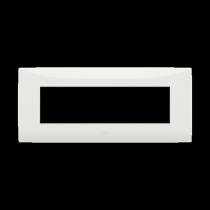 Placca sette moduli colore bianco ABB serie Chiara 2CSK0701CH