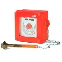 Quadretto di emergenza rosso IP55 con martelletto ABB 13180
