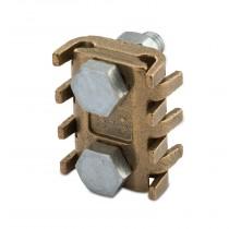 Morsetto a pettine 2 bulloni sezione 70-95 mmq in ottone pressofuso