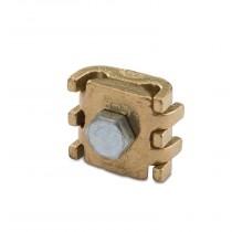 Morsetto a pettine 1 bullone sezione 25-50 mmq in ottone pressofuso