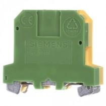 Morsetto da quadro Misura 4 mmq 2 Attacchi Giallo Verde Siemens 8WA10111PG00