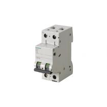 Interruttore Automatico Magnetotermico 2 Poli 2 Moduli 25A 10kA Curva D Siemens 5SL42258