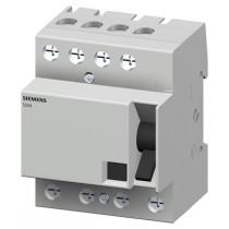 Differenziale puro 4 poli 25A 0,3 K classe B 4 poli 4 Moduli Siemens 5SM36424