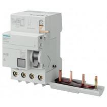 Blocco differenziale puro 4 poli AC 40A 300mA per serie 5SY Siemens 5SM26420