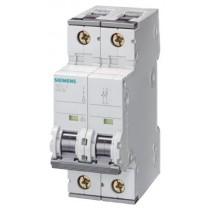 Interruttore Automatico Magnetotermico 2P 2 Moduli 10A 6kA  Siemens 5SY62107