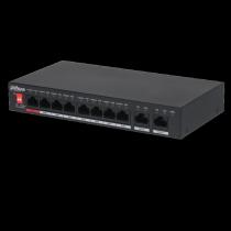 Switch di rete 10 Porte con 8 Porte Dahua PFS3010-8ET-96
