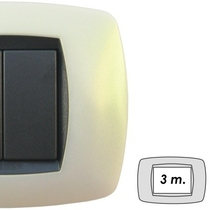 Placca Master Modo in tecnopolimero Bianco perla 3 - 4- 7 posti
