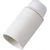 Portalampada E14 liscio Bianco Bachelit