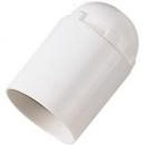 Portalampada E27 liscio Bianco Bachelit