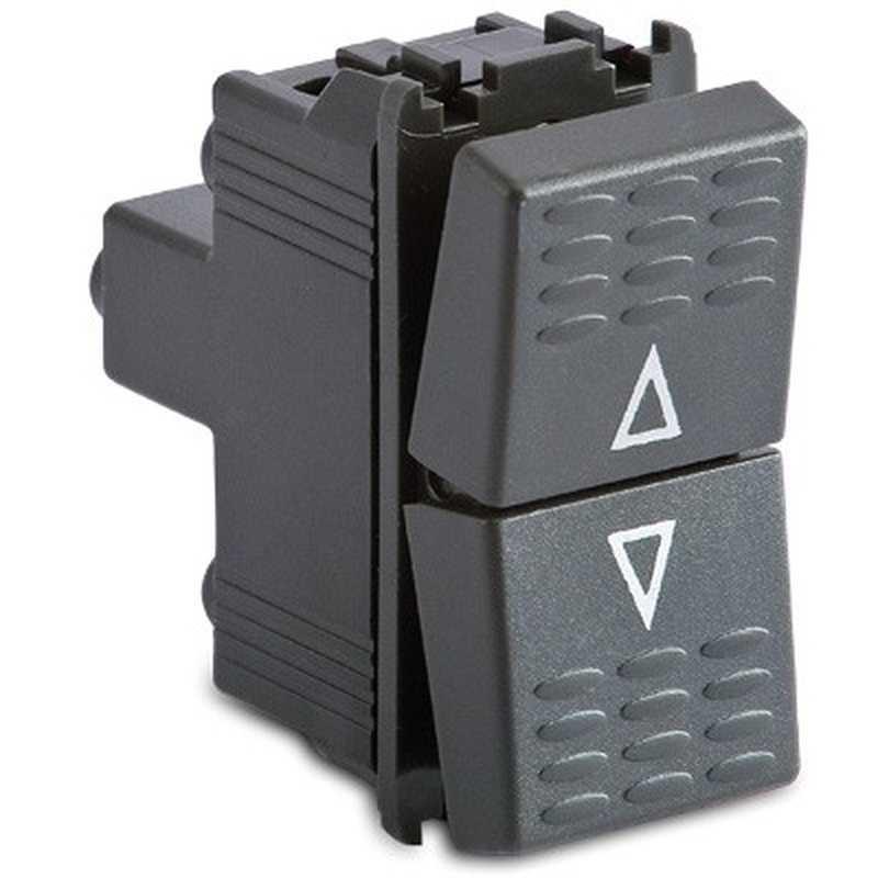 Pulsante doppio 1P/NA+1PNA -16A 250V grigio -Sistema Modo