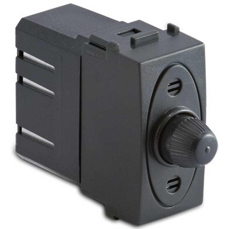 Dimmer per carichi resistivi con deviatore a pulsante grigio -Sistema Modo