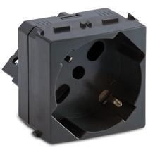 Presa Master P17/P30 universale 2P+T 10/16A 250V orizzontale grigio Sistema Modo