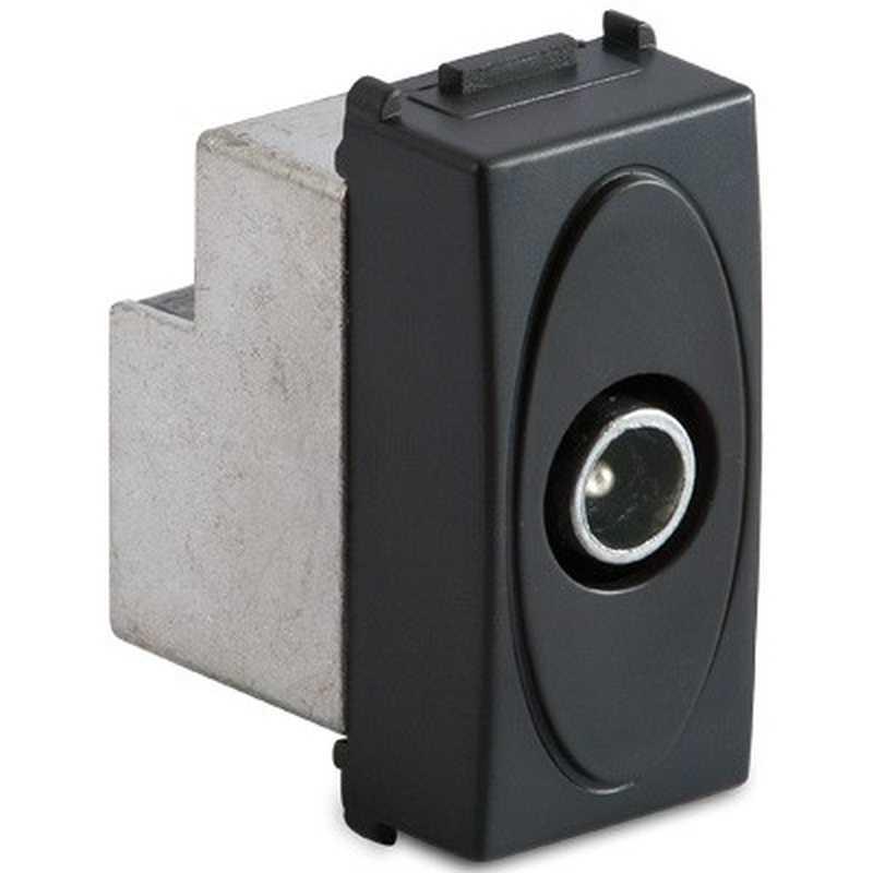 Presa coassiale Master IEC Maschio diretta 5-2400Mhz, grigio Sistema Modo