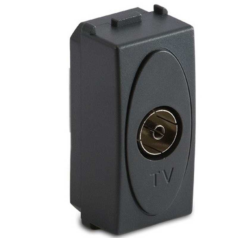 Presa Master TV 9.5mm pass./finale, grigio Sistema Modo