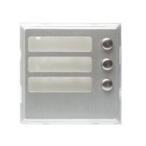 Modulo Sinthesi Urmet in alluminio anodizzato 3 pulsanti.1145/13